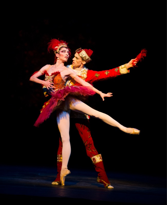 Galeazzi and Watson as Firebird and Prince