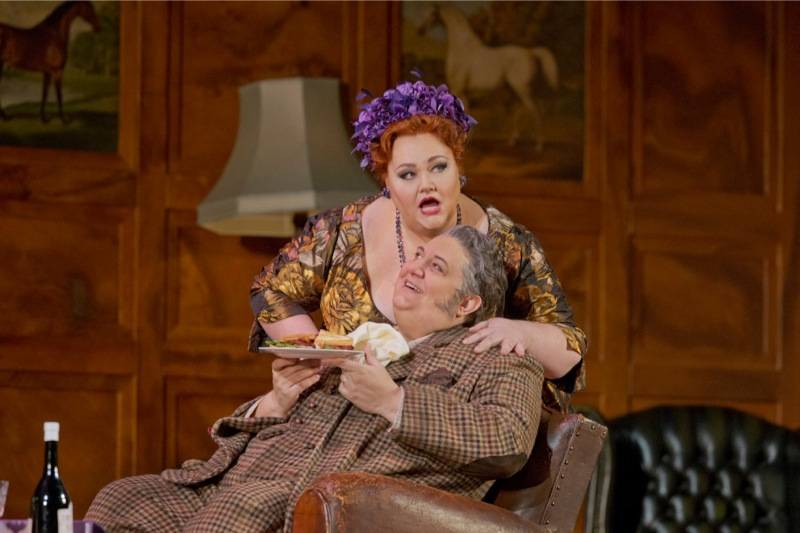 Falstaff with Mistress Quickly