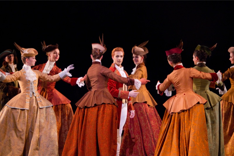 McRae and Court Ladies in Act II, all images ROH/ Johan Persson