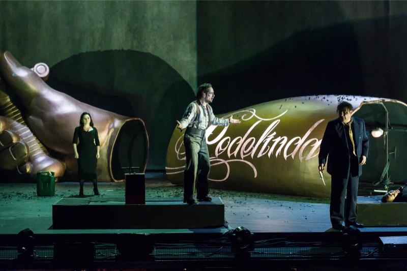 Final scene: Rodelinda, Berterado, Grimoaldo