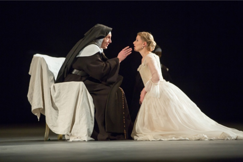 The old Prioress interviews Blanche, all images ©ROH/ Stephen Cummiskey