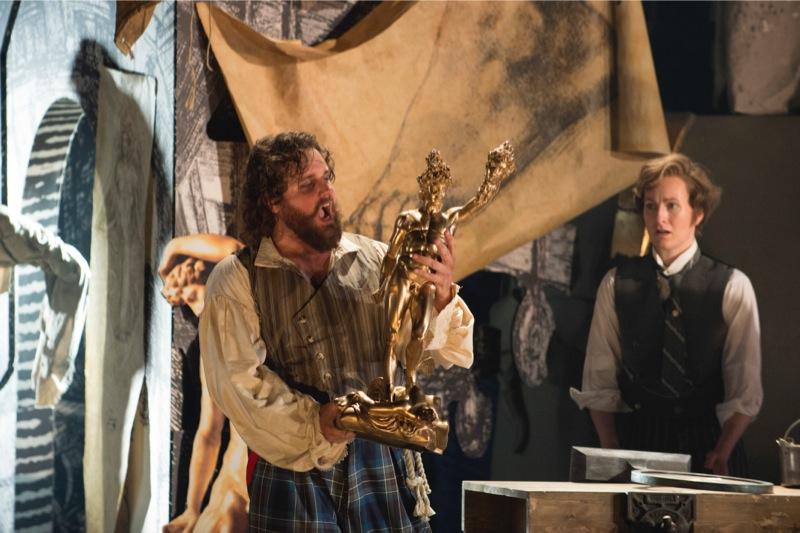 Cellini and Ascanio prepare to fire the statue