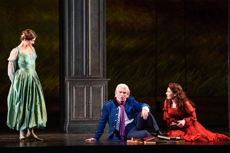 Onegin meets Olga and Tatiana, all images ROH/ Bill Cooper
