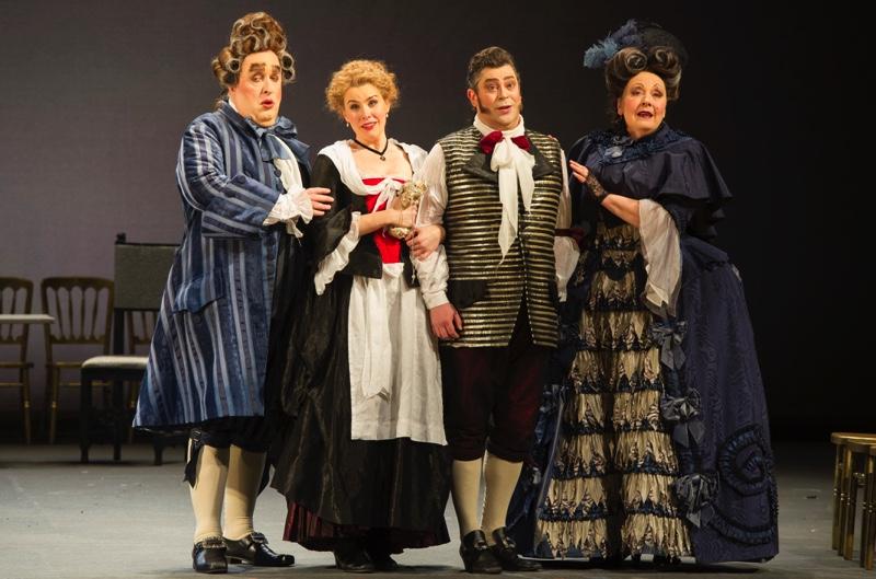Reconciliation: Bartolo, Susanna, Figaro, Marcellina