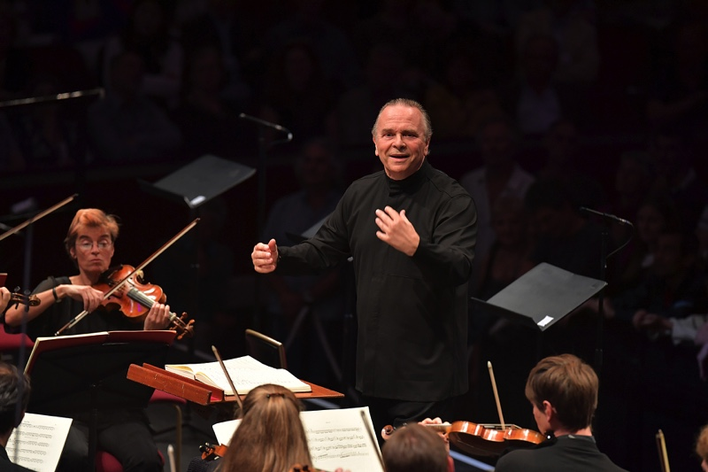 Mark Elder with the OAE, all images BBC/ Chris Christodoulou